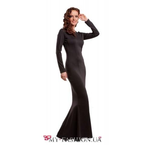 """Черное платье с рельефами """"Ночная фея"""""""