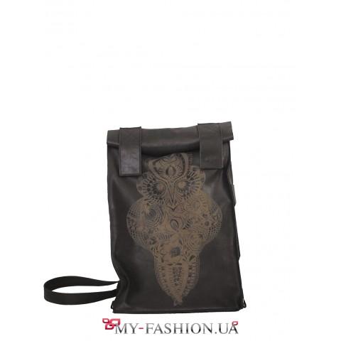 Авторский рюкзак с гравированным изображением