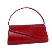 Красная кожаная сумка- клатч прямоугольной формы
