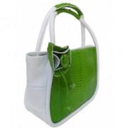 Кожаная сумка со вставками из кожи питона