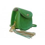 Зелёная сумочка из натуральной кожи