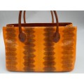 Оригинальная сумка из кожи морской змеи