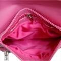 Стильный розовый клатч из натуральной кожи