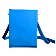 Яркая сумка-портфель голубого цвета
