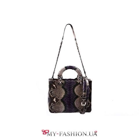 Элитная женская сумка из кожи питона
