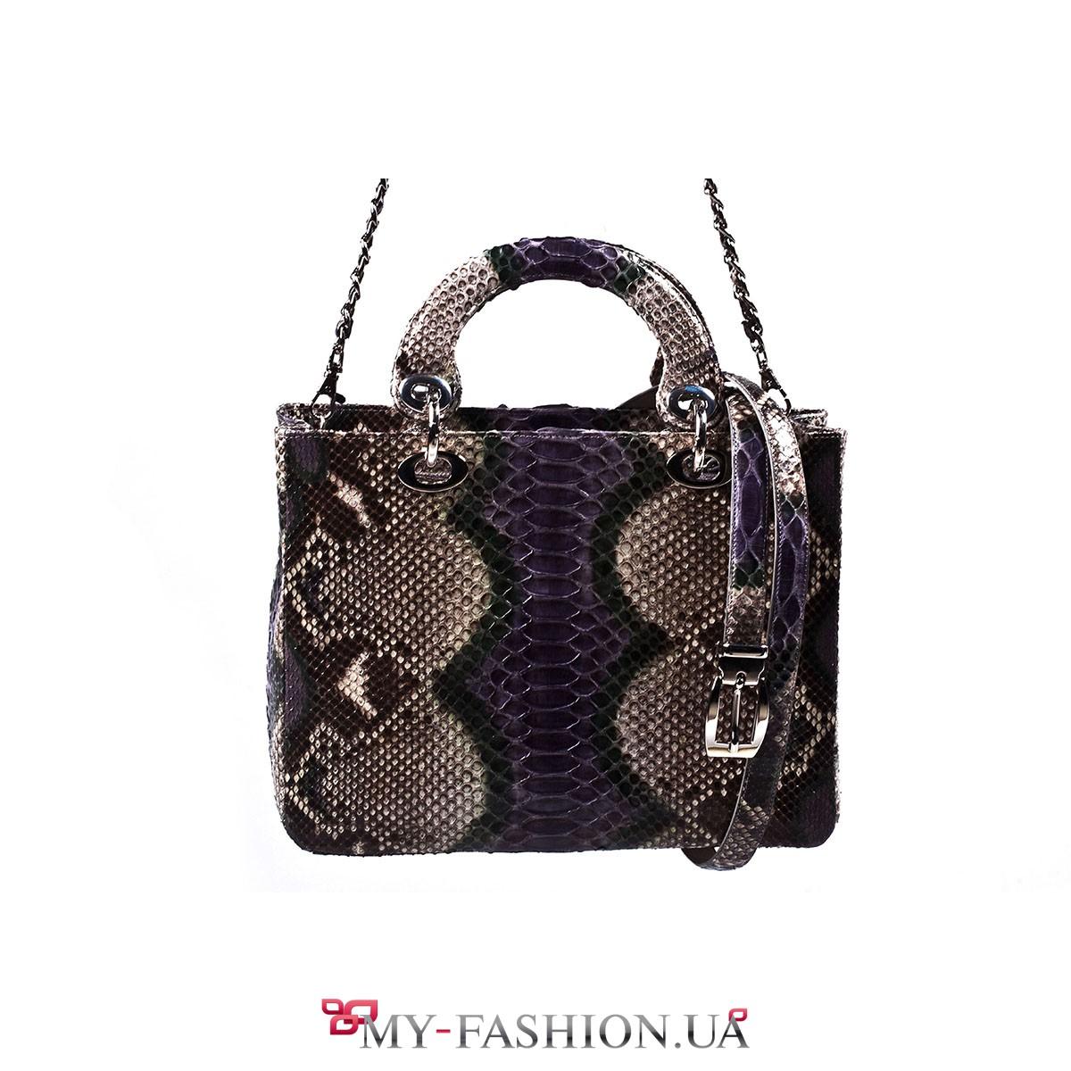0f7fb20381d0 Элитная женская сумка из кожи питона купить в интернет магазине в ...