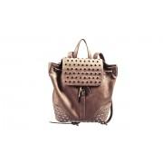 Тёмно-бежевый рюкзак с заклёпками