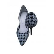 Роскошные туфли в гусиную лапку из натуральной кожи