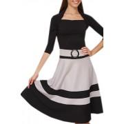 Короткое черное платье с пышной юбкой