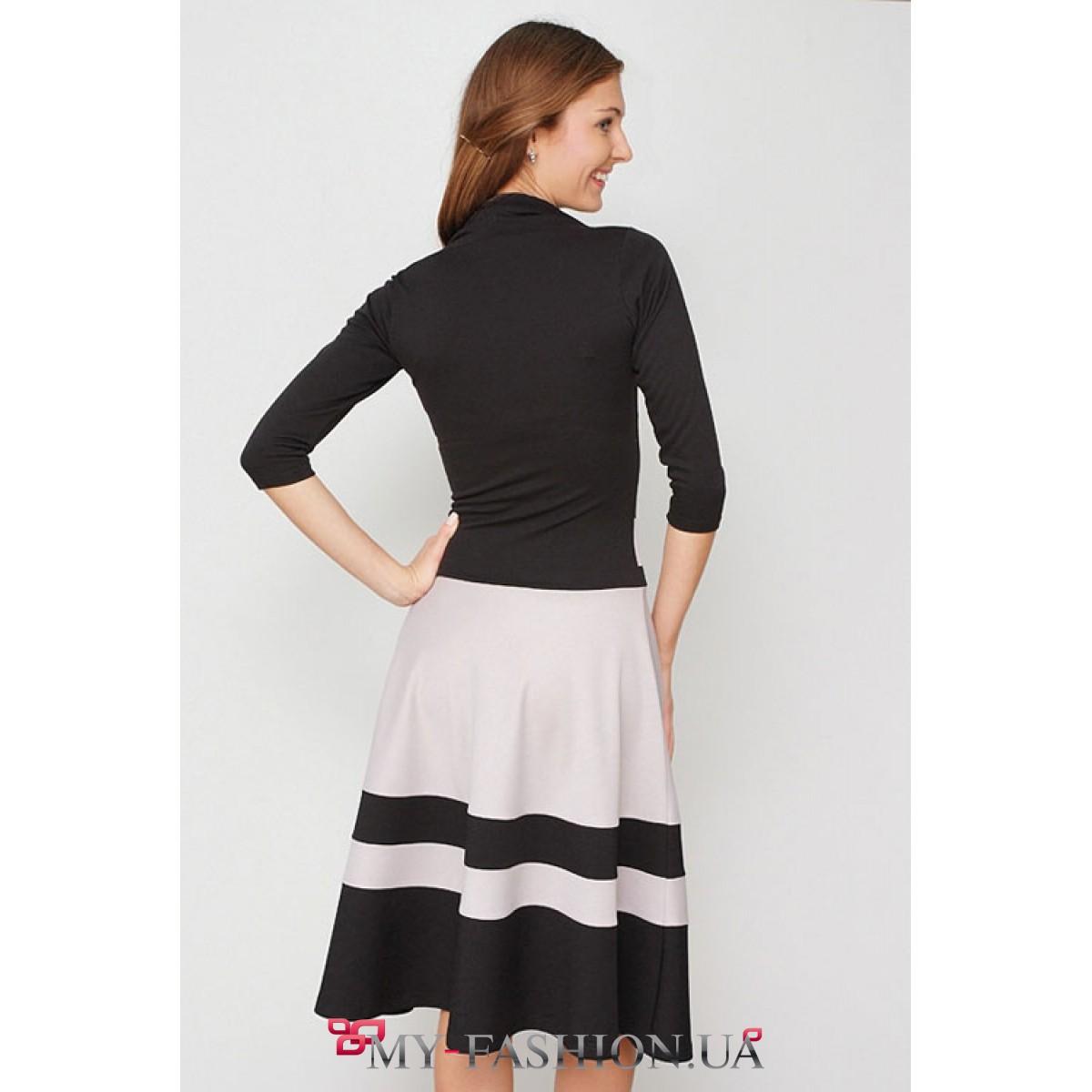 Купить Платье Трикотажное Короткое Платье