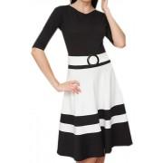 Офисное платье с пояском