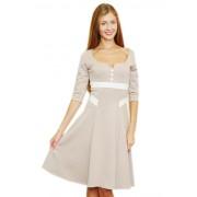 Красивое платье цвета кофе с молоком