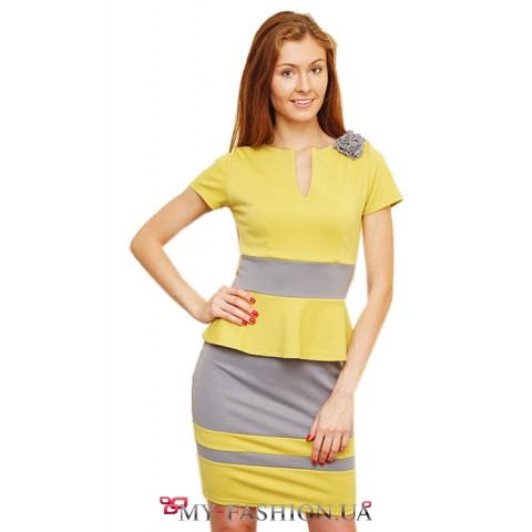 Лимонно- серые короткие платья яркие серые платья