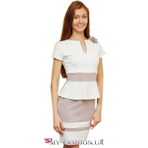 Женские белые офисные платья