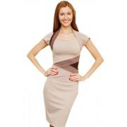 Платье трикотажное с цветными вставками