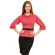 Офисное платье кораллового цвета