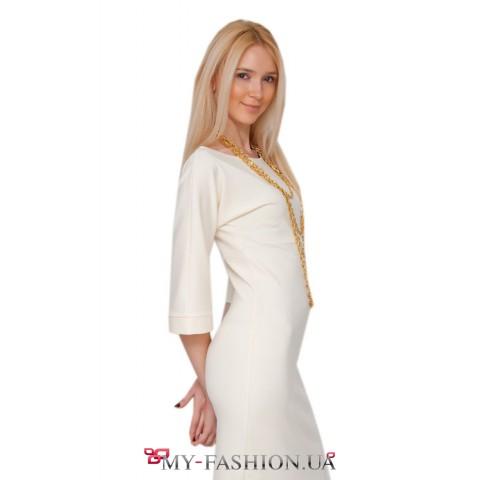 Белое платье с золотой цепью Irina Krylova