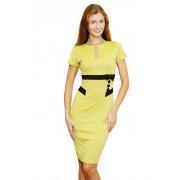 Привлекательное летнее платье жёлтого цвета