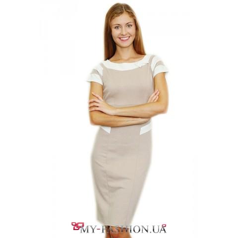 Короткое платье на лето серого цвета