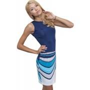 Летнее платье бирюзового цвета