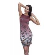 Трикотажное платье с принтом бабочек