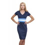 Трикотажное платье голубого цвета