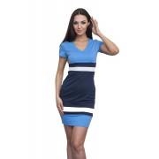 Трикотажное платье с полосками