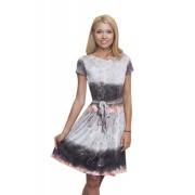 Трикотажное летнее платье с принтом в розы