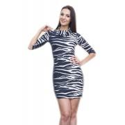 Приталенное платье с принтом под зебру