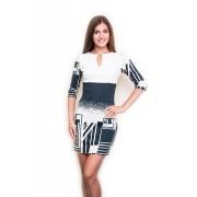 Короткое платье с графическим рисунком