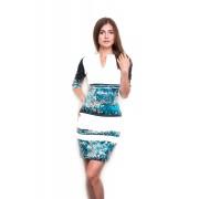 Платье-футляр с разрезом в области декольте