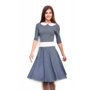Серое платье с пышной юбкой
