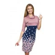 Яркое розовое трикотажное платье