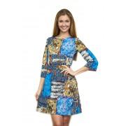 Яркое короткое платье из трикотажа