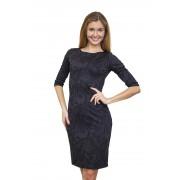 Классическое жаккардовое черное платье