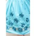 Бирюзовое летнее платье из натурального хлопка