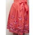 Летнее платье из натурального хлопка кораллового цвета