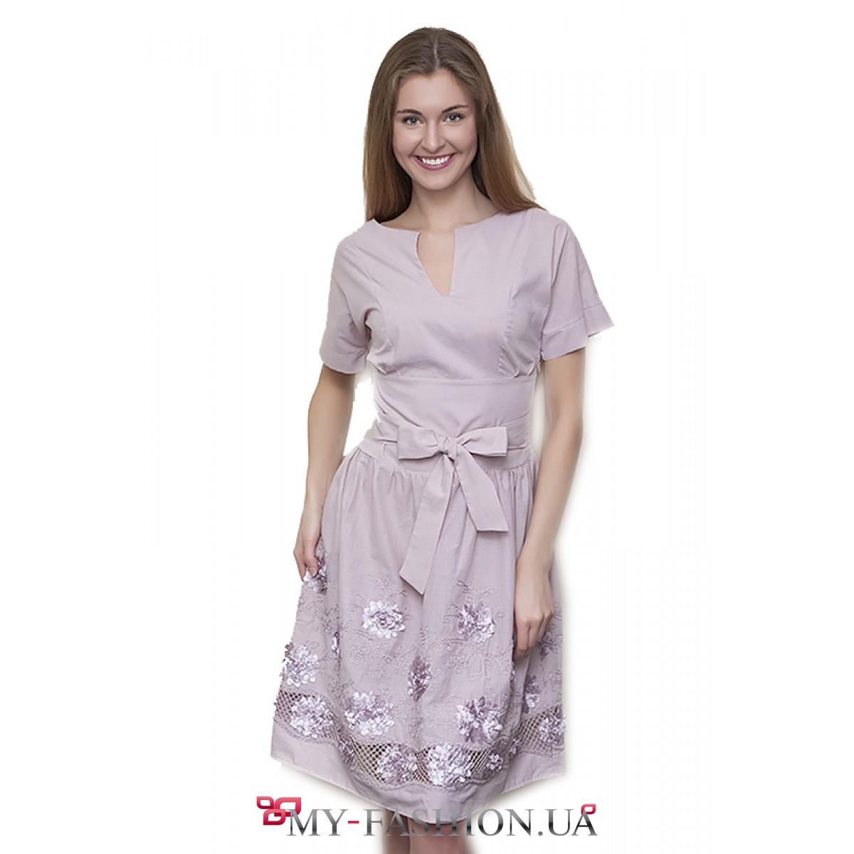 Платье летнее хлопок фото