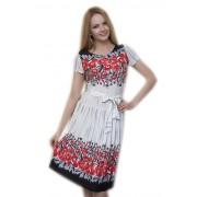 Оригинальное летнее платье с красными маками