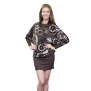 Стильное принтованное платье-туника