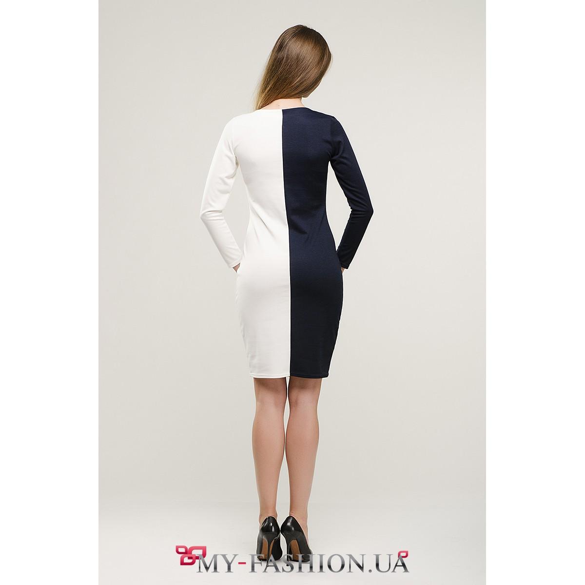 Платье сине белое с доставкой