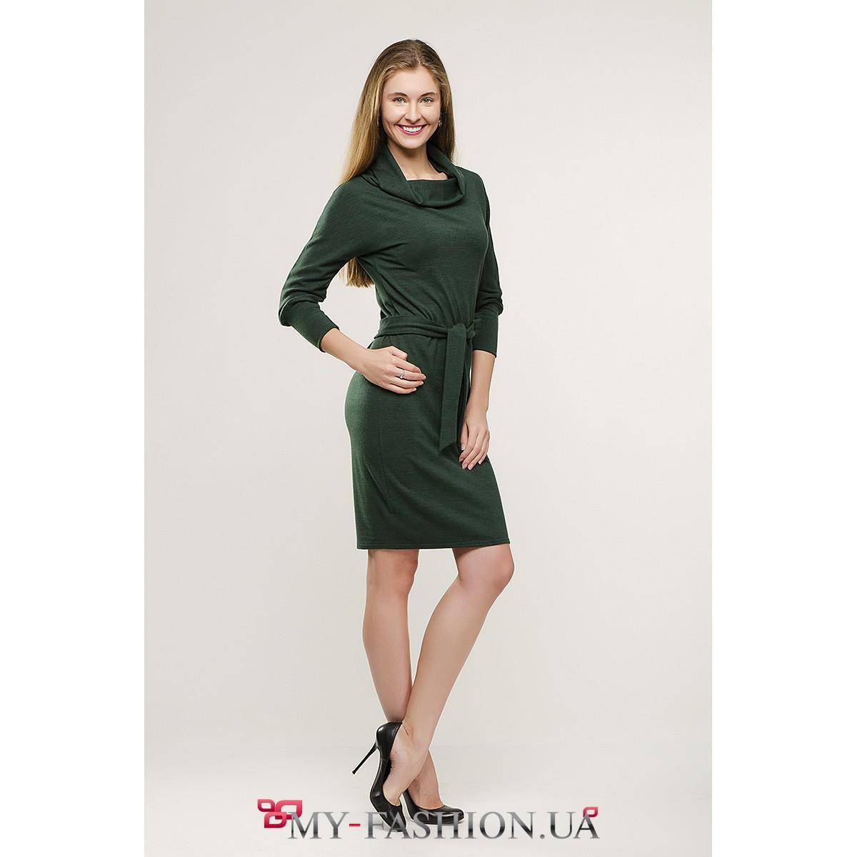 Зеленое платье миди купить