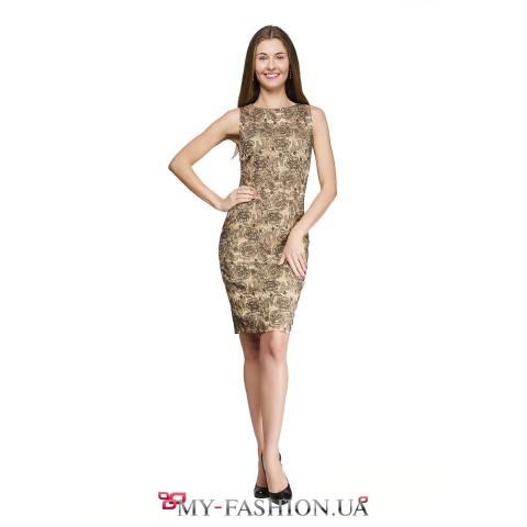 Вечернее платье чёрно-золотой расцветки