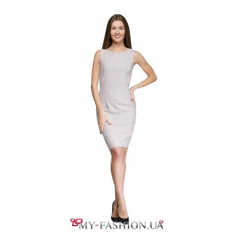 Милое платье-футляр из кружевного трикотажа