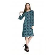 Офисное платье с геометрическим узором