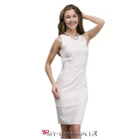 Коктейльное платье из жаккардовой ткани