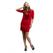 Ярко-красное короткое платье