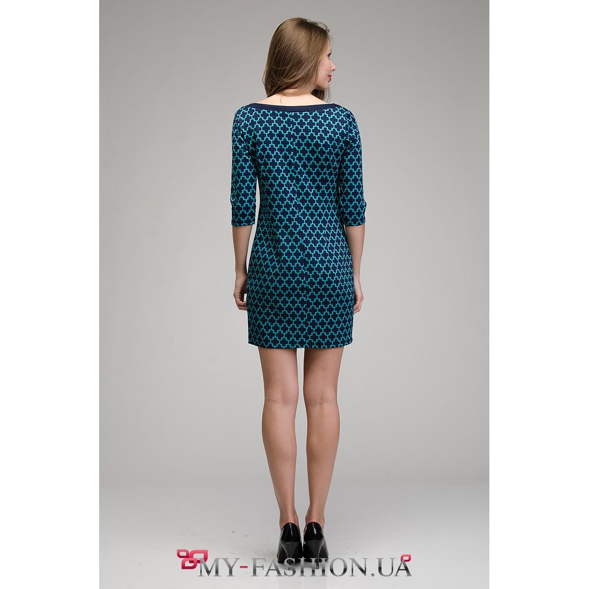 Платье синее доставка