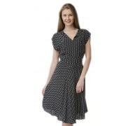 Платье асимметричного кроя в горошек
