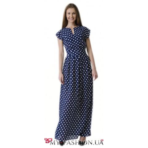 Летнее платье максимальной длины